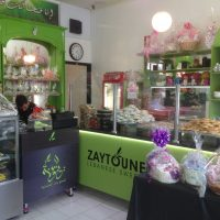 Cake and pastry shop interior