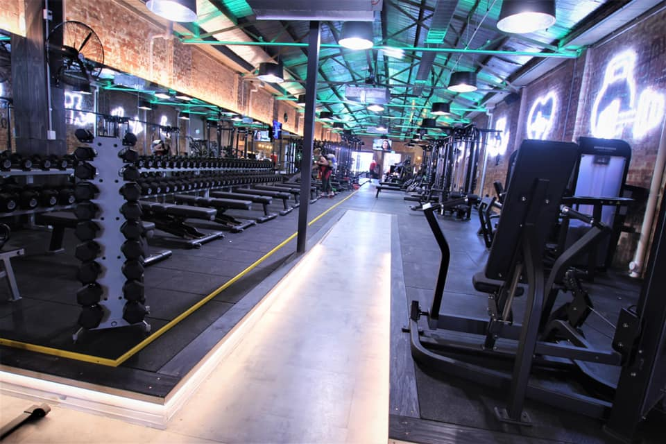 weight racks inside gym