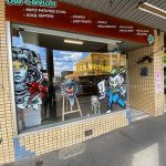 Exterior of a signwriting business