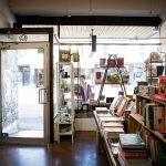Interior of book shop