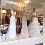 Exterior of a boutique bridal and formal gown shop