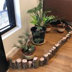 Massage parlour waiting room plants