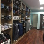 Interior of a mens clothing store