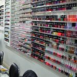 Shelves and shelves of nail polish