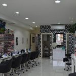 Interior of nail salon