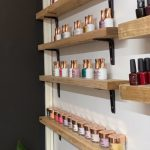 Shelves full of nail polish