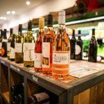 Wine in an organic supermarket