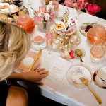aerial view of a high tea
