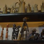 Tribal figurines and oil lamps