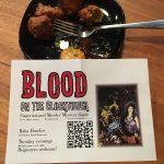 Dish of food + flyer