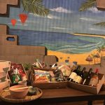 Mural on restaurant wall with product