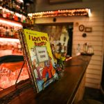 Children's book on drinks bar