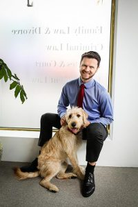 Professional man with dog