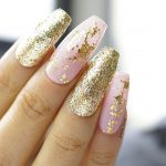 Gold leaf nails