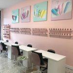 Nail salon interior