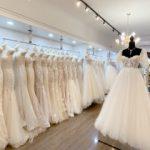 Wedding dress shop interior