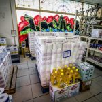 Interior of a supermarket