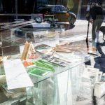 Window display of a glass shop