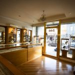 Gold jewellery shop interior
