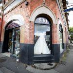 Wedding dress shop exterior