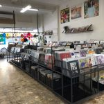 Record shop interior