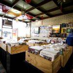 Record shop interior