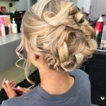 Female pinned up hairstyle