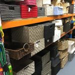 Shelves full of baskets and storage items for sale