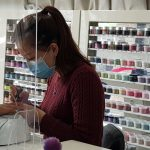 Nail stylist painting