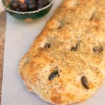 Turkish pide bread and olives