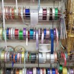 Rolls of coloured ribbons