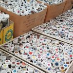 Tubes of different kinds of buttons