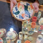 Abstract colourful bowls and cups
