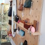 Handbags on display for sale