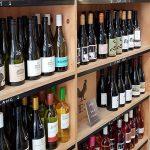 Rows of bottles of wine
