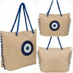 Greek design tote bags