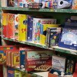 Shelves of children's boardgames