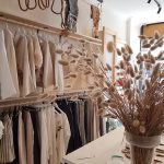 Neutral clothing shop interior