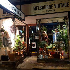 Vintage shop window display