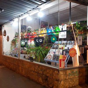 Record store window display